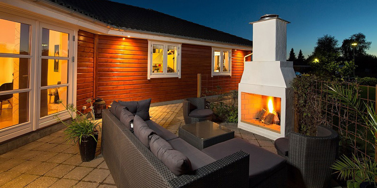 Bring the indoors out with the Garden Fireplace from Schiedel Chimney Systems