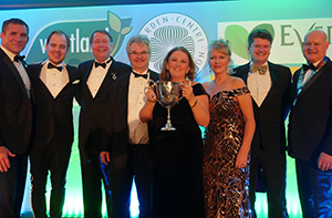 Haskins Garden Centres Staff with award at the Garden Centre Association Conference 2019