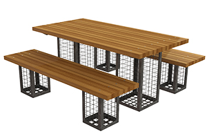 Gabion Dining Set