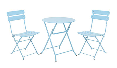 Ashford bistro garden furniture, duck egg blue, garden furniture
