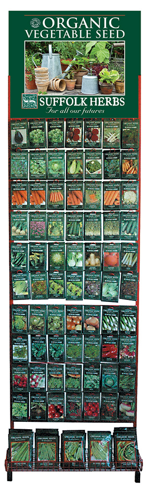 New organic Suffolk Herbs Collection Stand from Kings Seeds