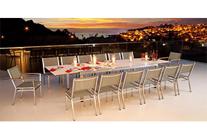 outdoor living dining table