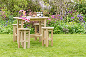 outdoor living wooden set