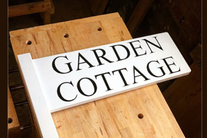 first impressions garden sign