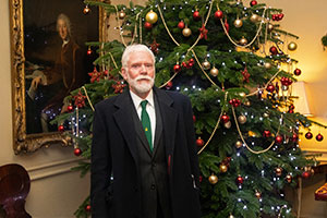 BCTGA's Harry Brightwell at Downing Street for the Christmas tree competition
