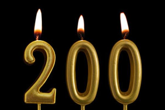 200 years candles for Johnsons Lawn Seed