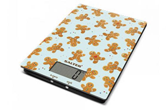 xmas gifts - cooking scales with gingerbread pattern