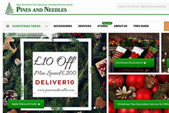 Pines and Needles Christmas tree - website