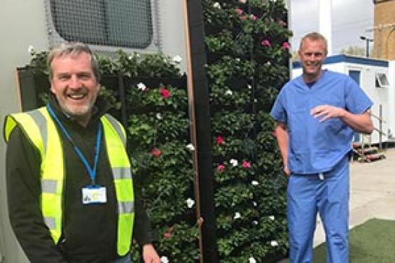 Plant donation to NHS Nightingale