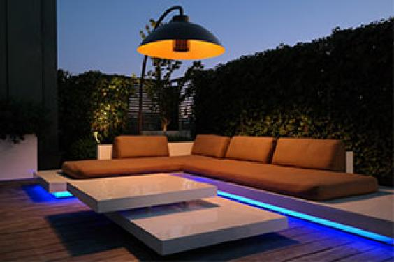 Outdoor living - a patio heater from Cuckooland