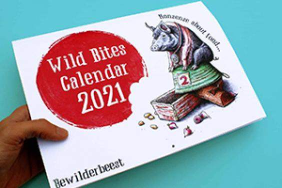 We've cracked it! The perfect stocking filler this Christmas, to tick all the boxes, is the daft and hilarious Bewilderbeest Wild Bites calendar. Light and flat to post, the calendar will hang on the wall all year round, and will bring a smile (or at least an eye-roll over a bad joke) every day.