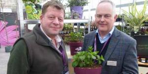Adam Dunnett, Sales and Marketing Director at Wyevale Nurseries with Mike Simms, Buyer from the Chepstow Group