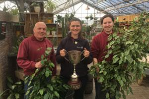 Perrywood staff garden centre awards