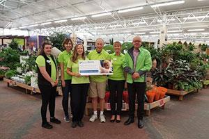 Staff at Haskins Garden Centre prepare for Bournemouth Half Marathon