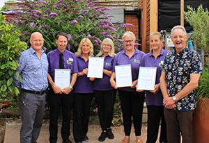 Monkton Elm Garden & Pet Centre staff with GCA awards